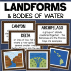 Landforms Reference Cards/Posters