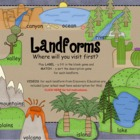 Landforms SMARTboard interactive activity- games and Disco