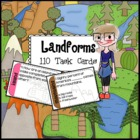 Landforms Task Cards - 110 task cards for 11 different lan