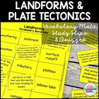 Landforms and Plate Tectonics Vocabulary Match up Mats--st