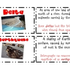 Landforms of Georgia Vocabulary Cards