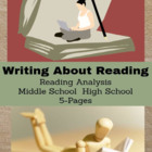 Language Arts Activities - Writing About Reading