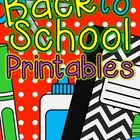 Language Arts - Back to School Printables