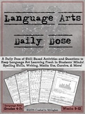Language Arts Daily Dose Grade 6 {Weeks 9-12}