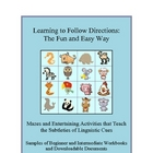 Language Arts: Following Directions the Fun and Easy Way -