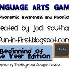 Language Arts Games for the Beginning of the Year