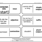 Language Arts Grammar Dominoes