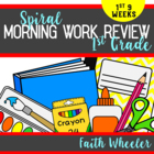 Language Arts & Math - 1st Grade Morning Work (1st 9 Weeks)
