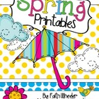Language Arts &amp; Math - Spring Printables