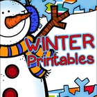 Language Arts & Math - Winter Printables
