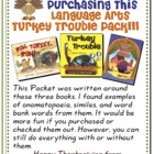 Language Arts Turkey Trouble Writing Pack
