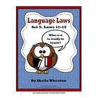 Language Laws: Set  3-Laws 11-15 (Common Core Standards: R