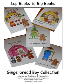 Lap Book to Big Book Gingerbread Boy Collection