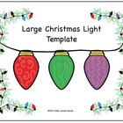Large Christmas Light Template