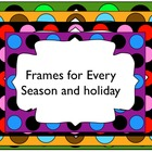 Large Dot Borders and Frames - For Personal or Commercial Use