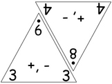 Large Double Fact Triangle Flash Cards