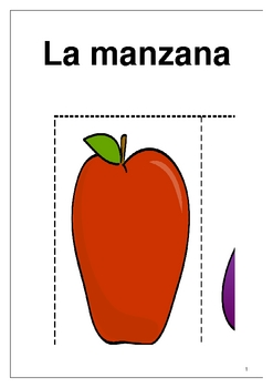 Las frutas y las verduras Fruits and vegetable flashcards