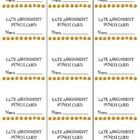 Late Assignment Punch Cards