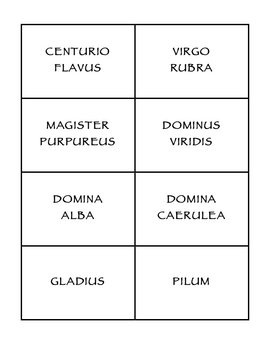 Latin Clue Cards
