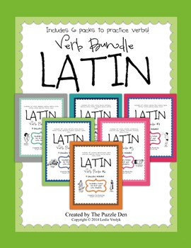 Latin Verb Bundle - puzzles for first year latin students