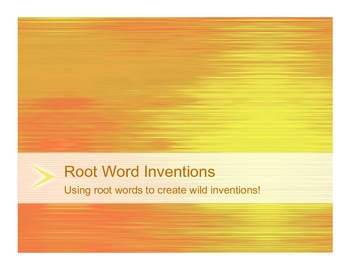 Latin and Greek Root Word Inventions Activity