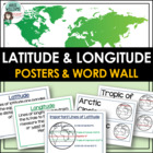 Latitude & Longitude Vocabulary Poster and World Wall Set