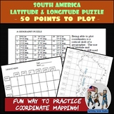 South America - Latitude and Longitude Coordinates Puzzle