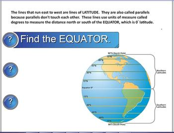 Latitude and Longitude SMART Notebook lesson