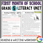 Launching the Reader&#039;s &amp; Writer&#039;s Workshops: Grade 5...40 