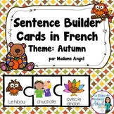 L'automne: Autumn Themed Silly Sentence Builder Cards in French