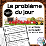 Le problème du jour:Second Grade French Math Word Problem