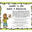 Leader in Me Freebie: Habit 4 Resources