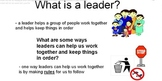 Leaders and Classroom Rules