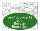 Leaf Bookmarks Autumn Fall Printable Coloring Page PDF