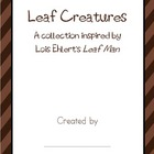 Leaf Creatures Class Book inspired by Leaf Man