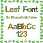Celebrate Springtime with Leaf Font Clip Art {Freebie}