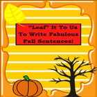 """Leaf"" it to Us to Write Fabulous Fall Sentences!"