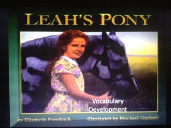 Leah's Pony Vocabulary Development
