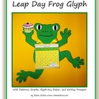 Leap Day Craft Frog Glyph for Art, Math and Writing Activity