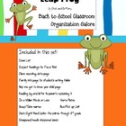 Leap Frog Back to School Organization Galore