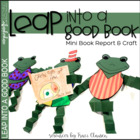 Book Report and Frog Craft - Leap Into a Good Book