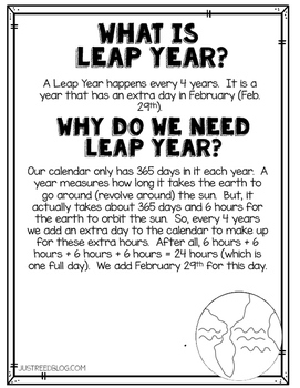 Leapfrog!  A Leap Year Freebie