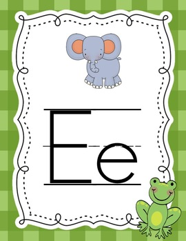 Leapin' Alphabet Wall Cards {Manuscript For A Frog Theme}