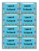 Learn It to Earn It!  Easter Behavior Punch Card