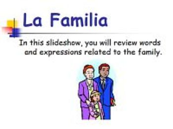 Learn Spanish La Familia PowerPoint