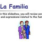 Learn Spanish - La Familia PowerPoint