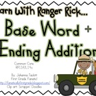 Learn With Ranger Rick: Base Word+Ending Addition