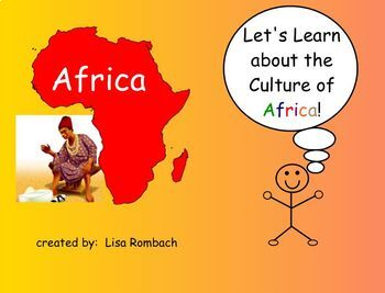 Learn about Cultures, Africa,  SmartBoard Lesson for Prima