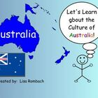Learn about Cultures, Australia,  SmartBoard Lesson for Pr