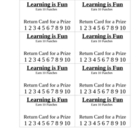 Learn and Earn Student Punchcard